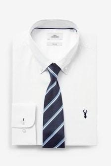 Shirt And Stripe Tie Set