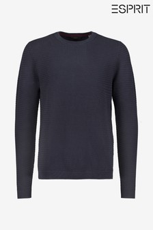 Esprit Long Sleeved Crew Structured Sweater