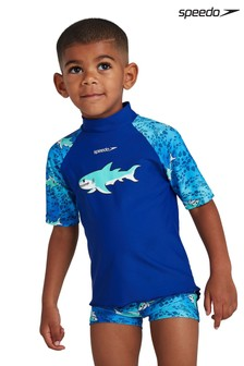 Speedo Blue Sun Protection Top And Shorts