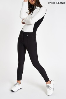 River Island Black Capri Techno Trouser