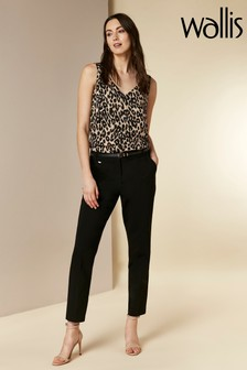 Wallis Black Double Faced Cigarette Trousers
