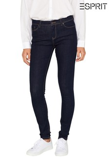 Esprit Blue Stretch Jeans With Organic Cotton