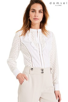 Damsel In A Dress White Savi Broderie Shirt