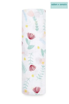 aden + anais Essentials Cotton Muslin Swaddle Flora Fauna Blanket