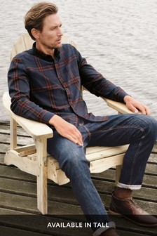 Long Sleeve Window Pane Check Shirt