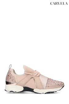 Carvela Lament Bling Nude Trainers