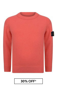 Boys Orange Knitted Jumper