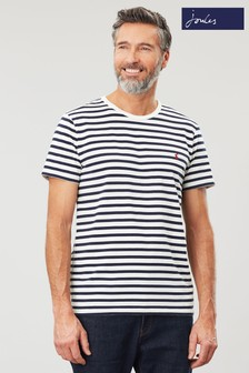 Joules Cream Boathouse Tee Striped Crew Neck T-Shirt