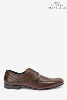 Leather Panel Lace-Up Shoes