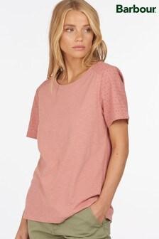 Barbour® Coastal Broderie Anglasie Sleeve Springtide T-Shirt
