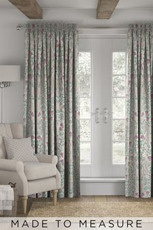 Aubrey Mirror Floral Natural Made To Measure Curtains