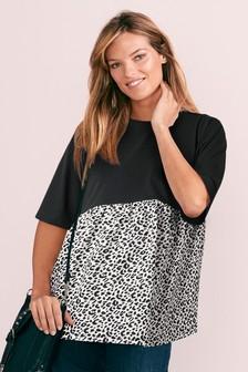 Maternity Fabric Mix T-Shirt