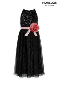 Monsoon Black Truth Maxi Dress