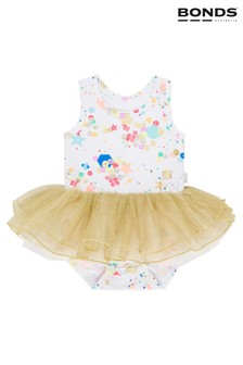 Bonds White Sequin Print Tutu Dress