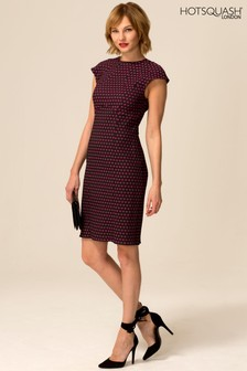 HotSquash Purple Jenny Dotty Shift Dress