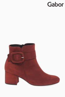 Gabor Red Capri Womens Modern Suede Ankle Boots
