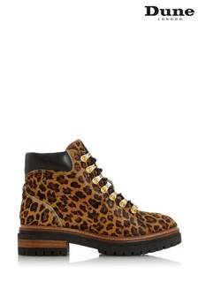 Dune London Panthers Leopard Print Leather Boots