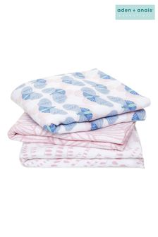 aden + anais Cotton Muslin Deco Musy Squares 3 Pack