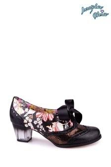 Irregular Choice Black Corporate Beauty Ribbon Lace Shoes