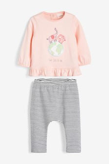 2 Piece GOTS Organic Character Cotton Set (0mths-2yrs)
