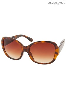 Accessorize Brown Savannah Glam Square Sunglasses