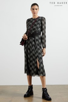 Ted Baker Aselli Atlas Double Split Midi Dress