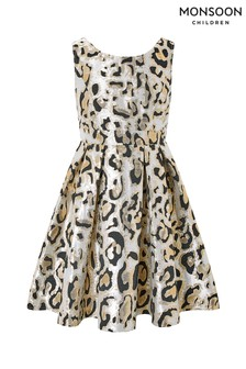 Monsoon Multi Marley Animal Jacquard Prom Dress