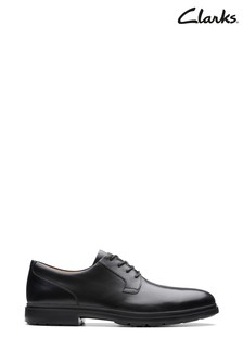 Clarks Black Un Tailor Tie Shoes