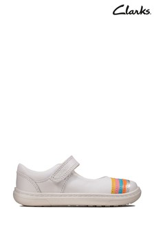 Clarks White Flash Rain T Shoes