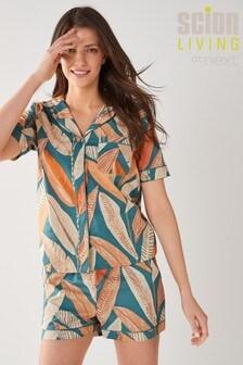 Scion at Next Blue Floral Cotton Button Through Pyjamas