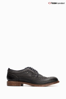 Niebieskie, sznurowane buty brogsy Base London® Onyx