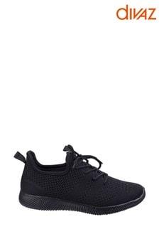 Divaz Black Heidi Knit Shoes