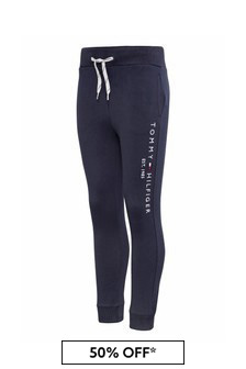 Tommy Hilfiger Boys Navy Organic Cotton Essential Sweatpants