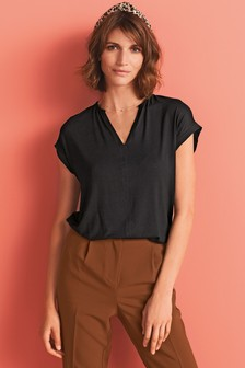V-Neck Boxy T-Shirt