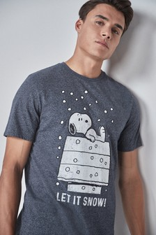 T-Shirt mit weihnachtlichem Print