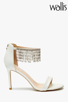 Wallis White Shandy Chandelier Trim Sandals