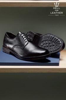 Leather Grain Derby Shoes