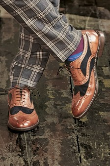 Leather Mix Brogues
