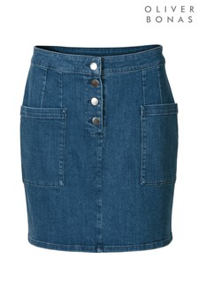 Oliver Bonas Denim Mini Skirt