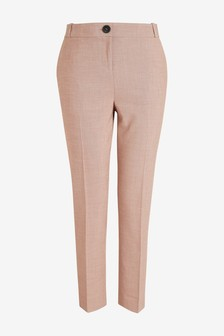 Sharkskin Tailored Slim Trousers
