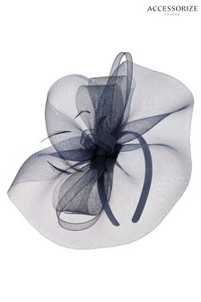 Accessorize Navy Mia Mini Crin Fascinator