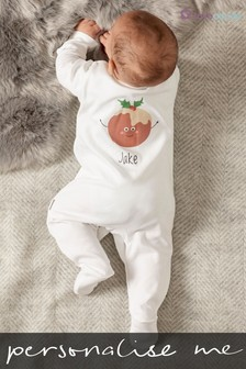 Personalised Pudding Sleepsuit by Loveabode