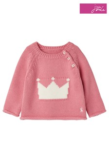 Joules Pink Beau Knitted Jumper
