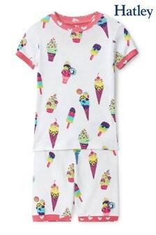 Hatley White Ice Cream Cones Organic Cotton Short Pyjama Set