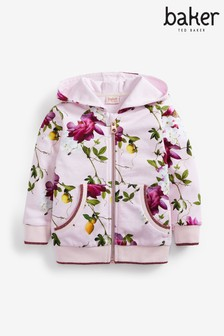 Baker by Ted Baker Girls Pink Floral Hoody