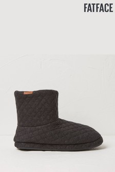 FatFace Grey Jerry Jersey Quilted Slipper Boots