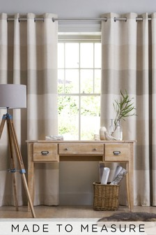 Locksley Woven Stripe Made To Measure Curtains