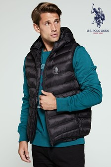 U.S. Polo Assn. Padded Hooded Gilet