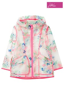 Joules White Raindance Clear Rubber Jacket