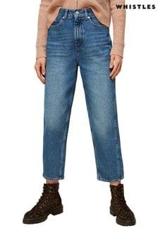 Whistles Light Wash Blue Barrel Jeans